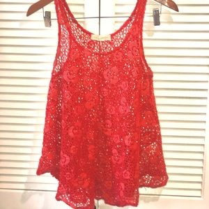 Urban Outfitters Staring at Stars Crocheted Top XS